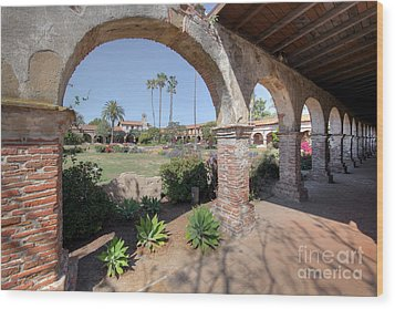 Wood Print featuring the photograph Mission San Juan Capistrano by Martin Konopacki