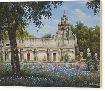 Mission San Juan Wood Print by Kyle Wood