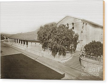 Mission San Luis Obispo De Tolosa California 1880  Wood Print by California Views Mr Pat Hathaway Archives