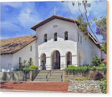 Mission San Luis Obispo De Tolosa Wood Print by Dominic Piperata