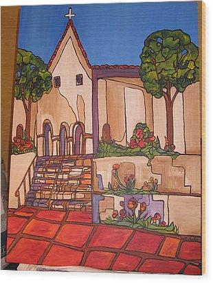 Mission San Luis Opispo Wood Print by Michelle Gonzalez