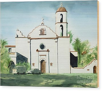 Mission San Luis Rey Colorful II Wood Print by Kip DeVore