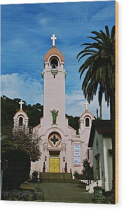Mission San Rafael Wood Print by Eric Tressler