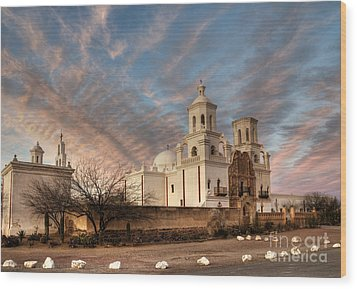 Mission San Xavier Del Bac Wood Print by Vivian Christopher