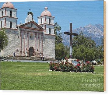 Mission Santa Barbara Wood Print