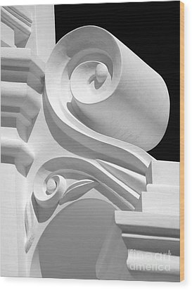 Mission Shapes And Shadows - Shades Of Grey Wood Print by Douglas Taylor