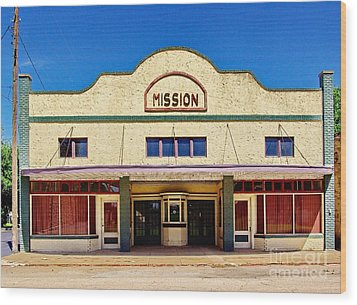 Mission Theater Wood Print by Gary Richards