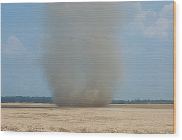 Mississippi Dust Devil Wood Print