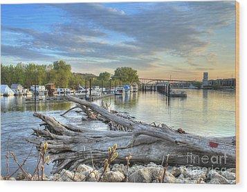 Mississippi Harbor 2 Wood Print