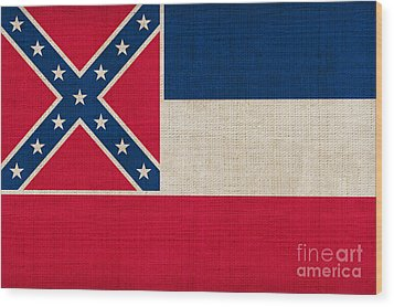 Mississippi State Flag Wood Print by Pixel Chimp
