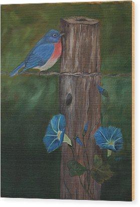 Missouri Blue Bird II Wood Print