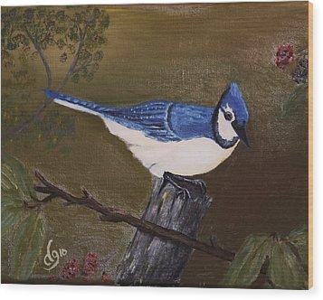 Missouri Blue Jay Wood Print