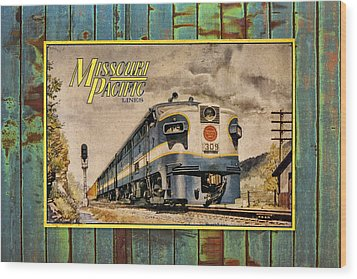 Missouri Pacific Lines Sign Engine 309 Dsc02854 Wood Print