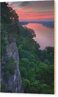 Missouri River Bluffs Wood Print by Robert Charity