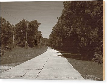 Missouri Route 66 2012 Sepia. Wood Print by Frank Romeo
