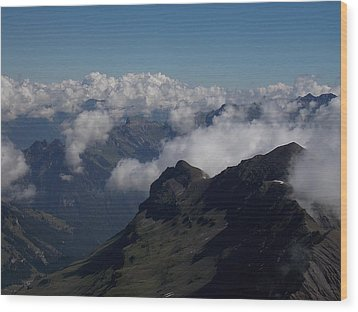 Mist From The Schilthorn Wood Print