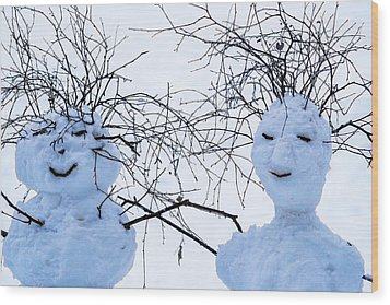 Mister And Missis Snowball - Featured 3 Wood Print by Alexander Senin