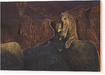 Wood Print featuring the photograph Mister Majestic by David Andersen