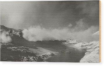 Mistic Mountain Wood Print