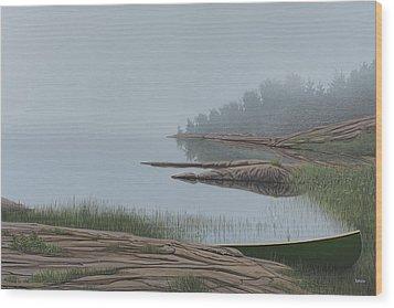 Mistified Wood Print by Kenneth M  Kirsch