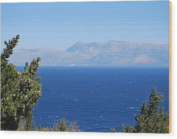 Wood Print featuring the photograph Mistral Wind by George Katechis