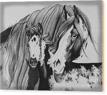 Misty And Jet Wood Print by Cheryl Poland