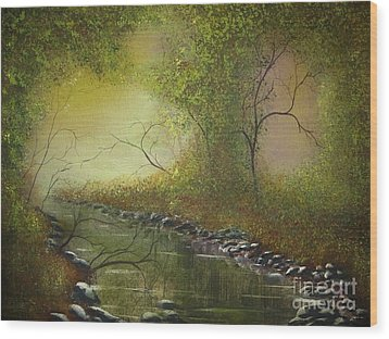 Misty Creek Wood Print by Tim Townsend
