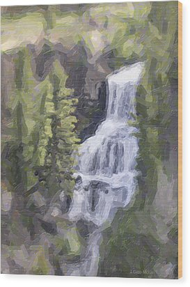 Misty Falls Wood Print by Jo-Anne Gazo-McKim