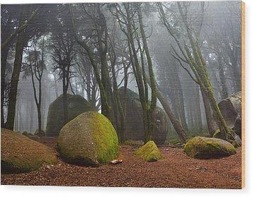 Misty Wood Print by Jorge Maia