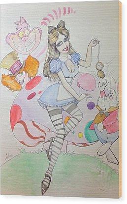 Misty Kay In Wonderland Wood Print
