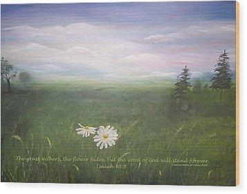 Misty Meadow Isaiah  Wood Print