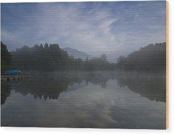 Misty Morning Wood Print by Aaron Bedell