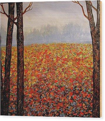 Misty Morning Wood Print by Heather Matthews