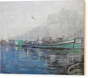 Misty Morning In Hout Bay Wood Print by Michael Durst