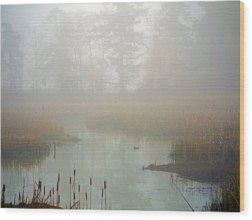 Wood Print featuring the photograph Misty Morning by Jordan Blackstone