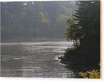 Wood Print featuring the photograph Misty Morning by Kay Novy