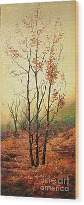 Misty Morning Wood Print by Sorin Apostolescu