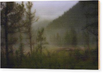 Wood Print featuring the photograph Misty Mountain by Ellen Heaverlo