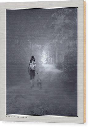 Wood Print featuring the photograph Misty Path by Pedro L Gili