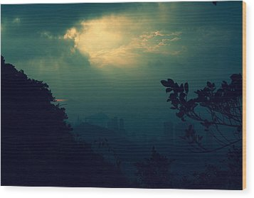 Wood Print featuring the photograph Misty Sunlight by Afrison Ma