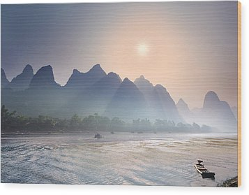Misty Sunrise 2 Wood Print
