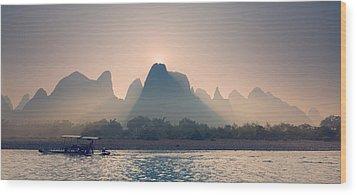 Misty Sunrise 5 Wood Print