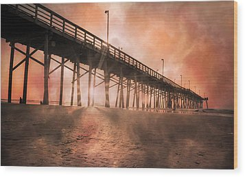 Misty Sunrise Wood Print by Betsy Knapp