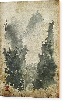 Misty Valley Altered Wood Print by Sean Seal