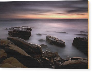 Misty Water Wood Print by Peter Tellone