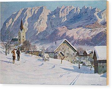 Mitterndorf In Austria Wood Print by Gustave Jahn