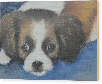 Wood Print featuring the painting Mitzy by Jeanne Fischer