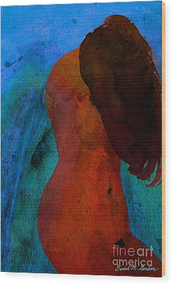 Mixed Media Figure Wood Print by David Gordon