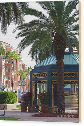 Mizner Park Gazebo Boca Raton Fl Wood Print