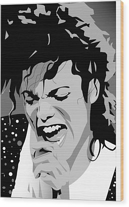 MJ Wood Print by Jayakrishnan R